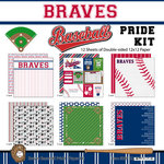Scrapbook Customs - Baseball - 12 x 12 Paper Pack - Braves Pride