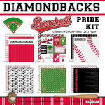 Scrapbook Customs - Baseball - 12 x 12 Paper Pack - Diamondbacks Pride
