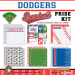 Scrapbook Customs - Baseball - 12 x 12 Paper Pack - Dodgers Pride