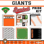 Scrapbook Customs - Baseball - 12 x 12 Paper Pack - Giants Pride
