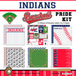 Scrapbook Customs - Baseball - 12 x 12 Paper Pack - Indians Pride