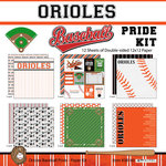 Scrapbook Customs - Baseball - 12 x 12 Paper Pack - Orioles Pride