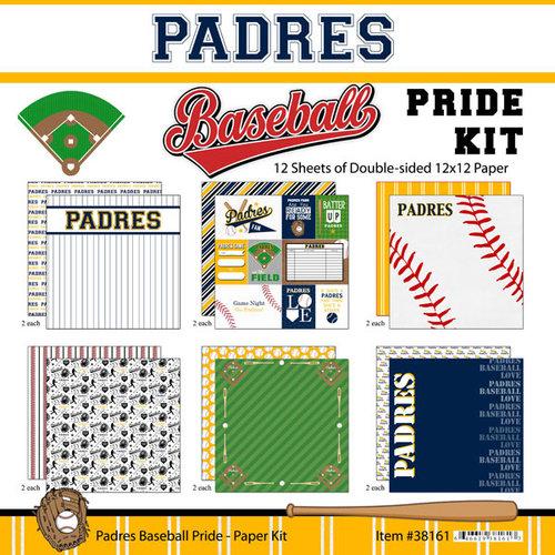 Scrapbook Customs - Baseball - 12 x 12 Paper Pack - Padres Pride