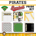 Scrapbook Customs - Baseball - 12 x 12 Paper Pack - Pirates Pride