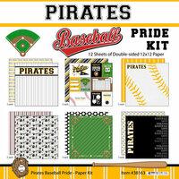 Scrapbook Customs - Baseball - 12 x 12 Paper Pack - Pirates Pride