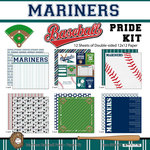 Scrapbook Customs - Baseball - 12 x 12 Paper Pack - Mariners Pride