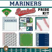 Scrapbook Customs - Baseball - 12 x 12 Paper Pack - Mariners Pride