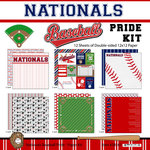 Scrapbook Customs - Baseball - 12 x 12 Paper Pack - Nationals Pride