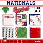 Scrapbook Customs - Baseball - 12 x 12 Paper Pack - Nationals Pride