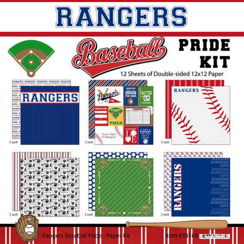 Scrapbook Customs - Baseball - 12 x 12 Paper Pack - Rangers Pride
