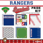 Scrapbook Customs - Baseball - 12 x 12 Paper Pack - Rangers Pride