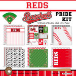 Scrapbook Customs - Baseball - 12 x 12 Paper Pack - Reds Pride