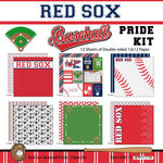 Scrapbook Customs - Baseball - 12 x 12 Paper Pack - Red Sox Pride