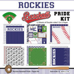 Scrapbook Customs - Baseball - 12 x 12 Paper Pack - Rockies Pride