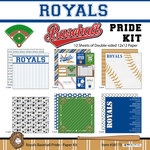 Scrapbook Customs - Baseball - 12 x 12 Paper Pack - Royals Pride