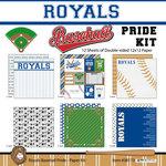 Scrapbook Customs - Baseball - 12 x 12 Paper Pack - Royals Pride