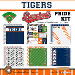 Scrapbook Customs - Baseball - 12 x 12 Paper Pack - Tigers Pride