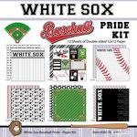 Scrapbook Customs - Baseball - 12 x 12 Paper Pack - White Sox Pride