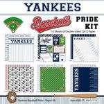 Scrapbook Customs - Baseball - 12 x 12 Paper Pack - Yankees Pride