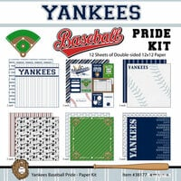 Scrapbook Customs - Baseball - 12 x 12 Paper Pack - Yankees Pride