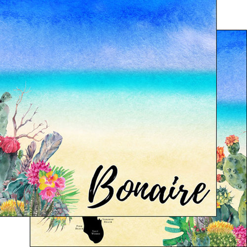 Scrapbook Customs - World Collection - Bonaire - 12 x 12 Double Sided Paper - Getaway