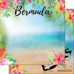 Scrapbook Customs - World Collection - Bermuda - 12 x 12 Double Sided Paper - Getaway