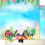 Scrapbook Customs - World Collection - Costa Rica - 12 x 12 Double Sided Paper - Getaway