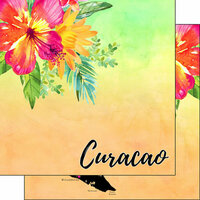 Scrapbook Customs - World Collection - Curacao - 12 x 12 Double Sided Paper - Getaway