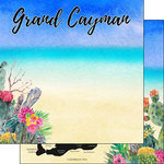 Scrapbook Customs - World Collection - Grand Cayman - 12 x 12 Double Sided Paper - Getaway
