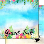 Scrapbook Customs - World Collection - Grand Turk - 12 x 12 Double Sided Paper - Getaway