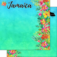 Scrapbook Customs - World Collection - Jamaica - 12 x 12 Double Sided Paper - Getaway