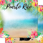 Scrapbook Customs - World Collection - Puerto Rico - 12 x 12 Double Sided Paper - Getaway