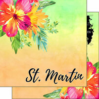 Scrapbook Customs - World Collection - St. Martin - 12 x 12 Double Sided Paper - Getaway