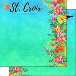 Scrapbook Customs - World Collection - Virgin Islands - 12 x 12 Double Sided Paper - Getaway - St. Croix