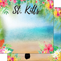 Scrapbook Customs - World Collection - St. Kitts - 12 x 12 Double Sided Paper - Getaway