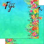 Scrapbook Customs - World Collection - Fiji - 12 x 12 Double Sided Paper - Getaway