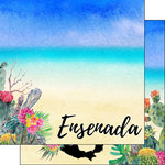 Scrapbook Customs - World Collection - Mexico - 12 x 12 Double Sided Paper - Getaway - Ensenada