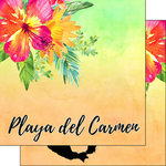 Scrapbook Customs - World Collection - Mexico - 12 x 12 Double Sided Paper - Getaway - Playa del Carmen