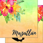 Scrapbook Customs - World Collection - Mexico - 12 x 12 Double Sided Paper - Getaway - Mazatlan