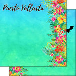Scrapbook Customs - World Collection - Mexico - 12 x 12 Double Sided Paper - Getaway - Puerto Vallarta