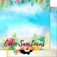 Scrapbook Customs - World Collection - Mexico - 12 x 12 Double Sided Paper - Getaway - Cabo San Lucus