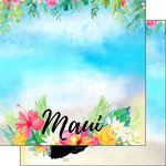 Scrapbook Customs - World Collection - USA - 12 x 12 Double Sided Paper - Getaway - Maui