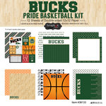 Scrapbook Customs - Basketball - 12 x 12 Paper Pack - Bucks Pride