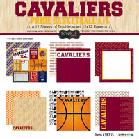 Scrapbook Customs - Basketball - 12 x 12 Paper Pack - Cavaliers Pride
