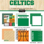 Scrapbook Customs - Basketball - 12 x 12 Paper Pack - Celtics Pride