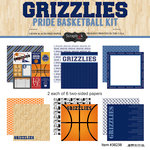 Scrapbook Customs - Basketball - 12 x 12 Paper Pack - Grizzlies Pride