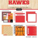 Scrapbook Customs - Basketball - 12 x 12 Paper Pack - Hawks Pride