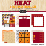 Scrapbook Customs - Basketball - 12 x 12 Paper Pack - Heat Pride