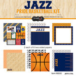 Scrapbook Customs - Basketball - 12 x 12 Paper Pack - Jazz Pride