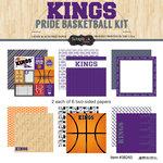 Scrapbook Customs - Basketball - 12 x 12 Paper Pack - Kings Pride